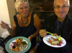 Supper, dining vegans