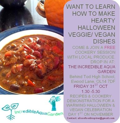 Halloween Cookery with Incredible Edible, 31st Oct