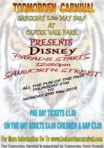 Todmorden Carnival 2015 poster