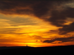 Sunset Stoodley Pike