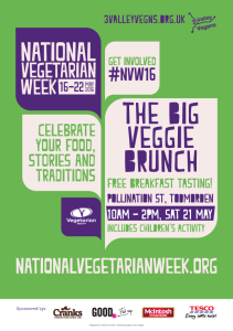 Poster for The Big Veggie Brunch, part of National Vegetarian Week