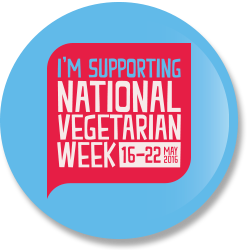 National Vegetarian Week 2016 badge