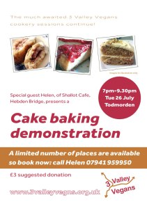 Cake baking demonstration
