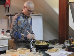 Stir fry, prepared at one of our cookery demos