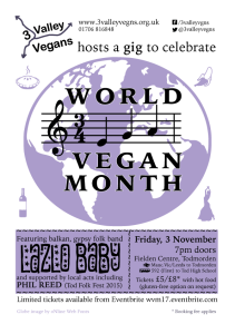World Vegan Month 2017