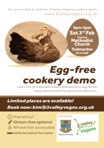 Egg-free cookery demo