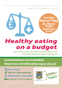 Healthy eating on a budget (flyer)