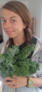 Kim with kale