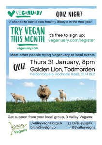 Veganuary quiz night poster