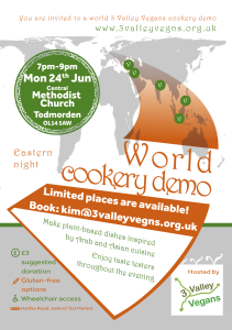 Poster for cookery demo