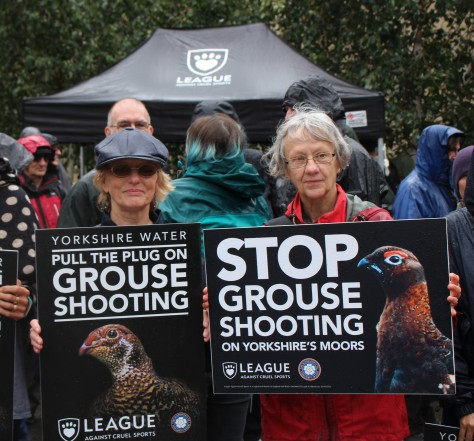 Myra and Elizabeth stopping grouse shooting