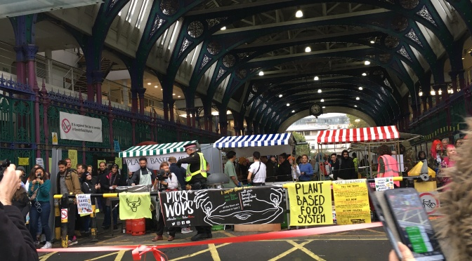 Animal Rebellion Smithfield stalls