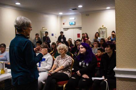 People attending a Vegan Approach presentation